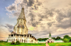 Church of the Ascension in Kolomenskoye, a world heritage site i stock images