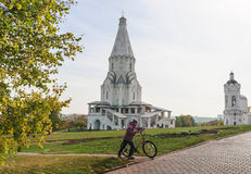 Church of the Ascension and St. George's bell tower. Museum-Reserve Kolomenskoye Stock Photography
