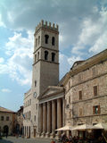 Church at Assisi. Old church at Assisi with Roman columns Royalty Free Stock Photo