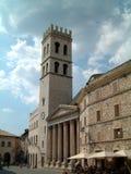 Church at Assisi. Old church at Assisi with Roman columns royalty free stock photo