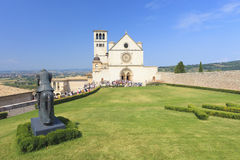 Church in Assisi in Italy Stock Images