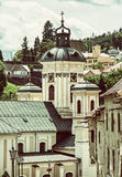 Church of the assumption, Banska Stiavnica, old filter Royalty Free Stock Images