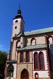 Ancient church in old town. City Banska Bystrica. SLovakia royalty free stock photos