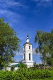 Church of the Assumption of the Blessed Virgin Mary in Malino. Moscow region, Stupino district.  Stock Photo