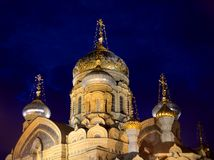 Church of the Assumption of the Blessed Virgin Mary in St.Petersburg. Royalty Free Stock Photography