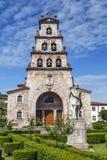 Church of the Assumption of Cangas de Onis and Pelayo Stock Photos