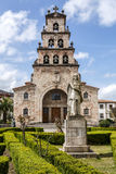 Church of the Assumption of Cangas de Onis and Pelayo Stock Photography