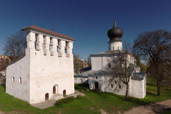 Church of the Assumption at the Ferry. Was built in 1521 in Pskov Royalty Free Stock Photography