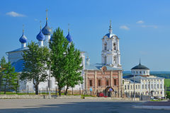 Church of the Assumption and House of merchants Alyanchikov in the centre of Kasimov city, Russia Stock Photography
