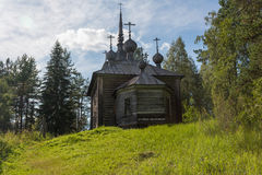 Church of the Assumption. Kenozero national Park Stock Photo