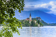 Church of the Assumption in Lake Bled Stock Photos