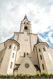 Church of the Assumption of Mary, Bad Tolz, Bavaria, Germany. View from below Royalty Free Stock Photo