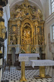 Church Assumption of Mary interior on lake Bled island Royalty Free Stock Images
