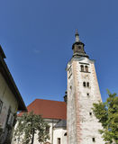 Church Assumption of Mary on lake Bled island Royalty Free Stock Photos