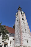 Church Assumption of Mary on lake Bled island Stock Images