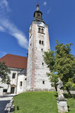 Church Assumption of Mary on lake Bled island Royalty Free Stock Images