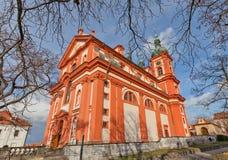 Church the Assumption of Mary (1623) in Stara Boleslav, Czech Stock Images