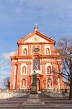 Church of Assumption of Mary (1623) in Stara Boleslav, Czech Stock Images