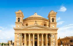 The Rotunda of Mosta 1860 in Mosta, Malta. The Church of the Assumption of Our Lady aka the Rotunda of Mosta 1860 in Malta royalty free stock photos