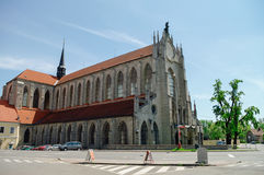 Church of the Assumption of Our Lady and Saint John the Baptist. In Kutna Hora, Czech Republic Stock Photography