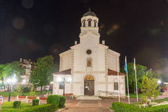 Church of the assumption of the virgin in the centre of the old night of Pomorie in Bulgaria stock photography