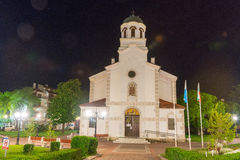 Church of the assumption of the virgin in the centre of the old night of Pomorie, Bulgaria royalty free stock images