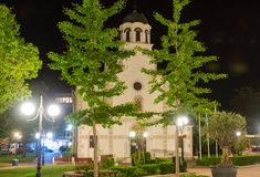 Church of the assumption of the virgin in the centre of the old night of Pomorie, Bulgaria Royalty Free Stock Photography