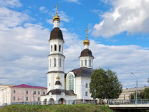 Church of Assumption of the Virgin Mary in Arkhangelsk stock photo