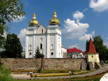 Church of the Assumption of the Virgin Mary. And the Carmelite Monastery in Terebovlya, Ukraine Royalty Free Stock Photography