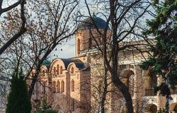 Church of the Assumption of the Virgin Pirogoschi on Podol stock image