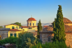 Church in Athens. Church in Plaka area, Athens, Greece, 2009 Royalty Free Stock Images