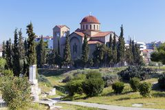 Church from Athens royalty free stock photo