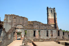 Church of Augustinian Ruins. In Old Goa,India Royalty Free Stock Images