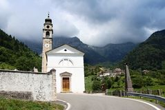 Church in aune village Italy Royalty Free Stock Images