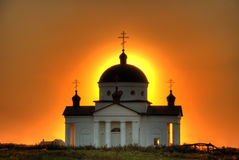 Church in aura Stock Photo