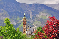 Church in austrian Alps Stock Images