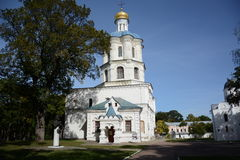 Church in autumn park Stock Image