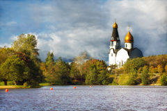 Church in the autumn Royalty Free Stock Image
