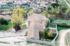 Church in Avila. High angle view Royalty Free Stock Image