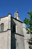 The church in Avila, Spain. Beautiful summer in Avila, blue sky, church and nature Royalty Free Stock Photography