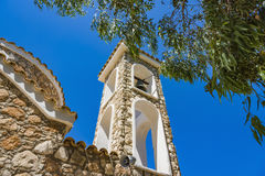 Church of Ayios Ilias - ancient orthodox temple XIV century on top of small hill. Protaras, Famagusta District, Cyprus Royalty Free Stock Photos