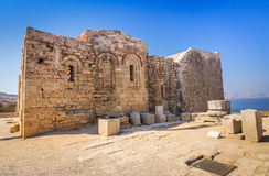 Church of Ayios Ioannis in the Lindos Acropolis Stock Photo