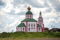 Ilyinskaya church in the city of Suzdal, Russia. stock images