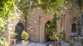 The church backyard. Church of Saint Demetrius in Thessaloniki, backyard Royalty Free Stock Photography