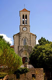 Church in Balazuc in France Stock Image