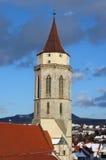 Church of Balingen. In Feb 2006 stock image