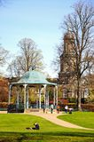 Church and Bandstand, Shrewsbury. Royalty Free Stock Photography
