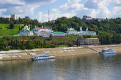 Church on the banks of the Oka River. Nizhny Novgorod. Russia Royalty Free Stock Photography