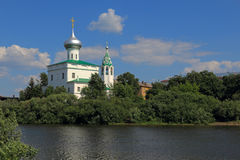 Church on the banks of the river in Vologda Stock Image