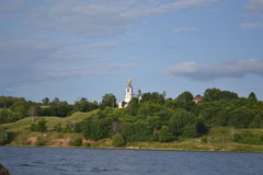 Church. The church on the banks of the Volga River Royalty Free Stock Images